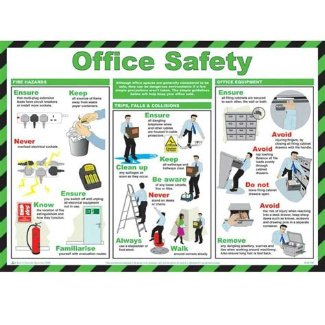 printable safety poster office safety poster office safety safety posters and