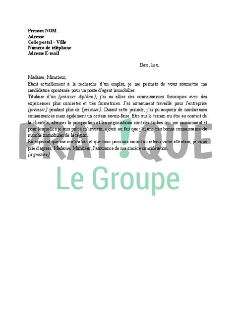 Lettre De Motivation De Negociateur Immobilier Modele Lettre De Motivation Negociateur Immobilier