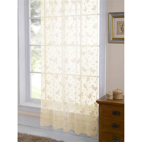 Patterned Curtains Living Room by Jardin Butterfly Patterned Lace Living Room Panel Window