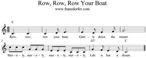 row row row your boat gently down the river lyrics row row row your boat