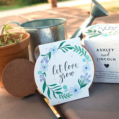 Wedding Favors Catalog by Wildflower Planting Kit Wedding Favors Plantable Seed