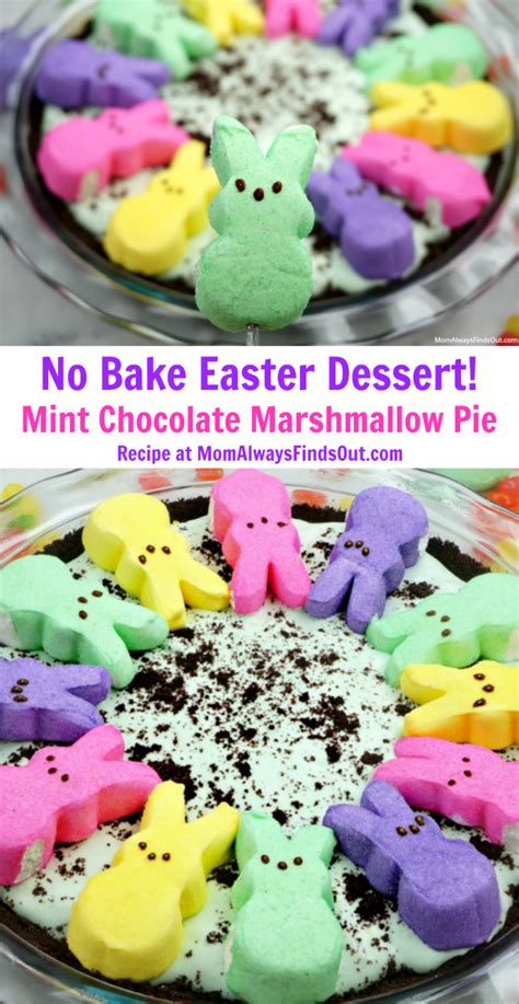 12 no bake easter desserts peeps chocolate peppermint marshmallow pie no bake easter