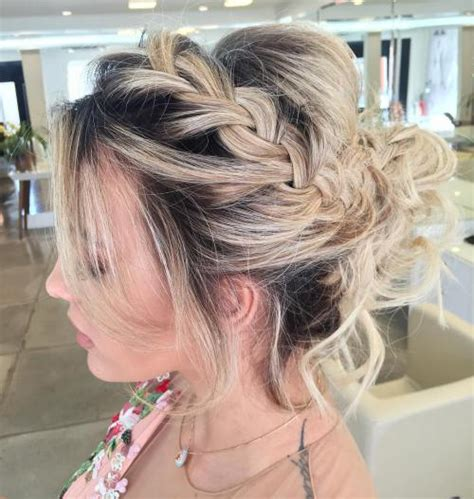 put up hair styles for thin hair 60 updos for thin hair that score maximum style point