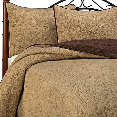 bed bath and beyond vallejo 3 pc nostalgia vallejo chocolate full bedspread quilted