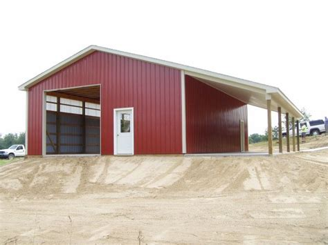 shop building designs images of pole barn with lean to 30 x 40 x 12 wall