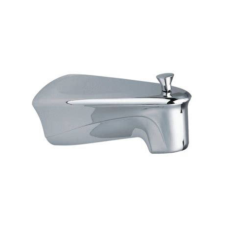 moen bathtub spout moen chateau diverter tub spout with soap tray in chrome