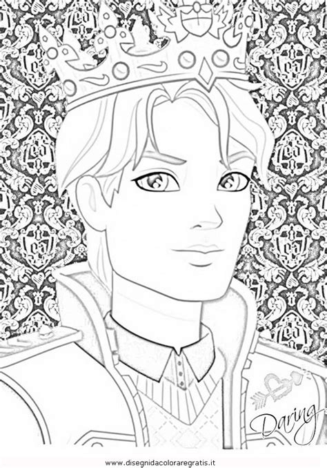 ever after high coloring pages darling charming disegno ever after high daring charming 2 personaggio
