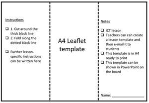 leaflet template leaflet template by rs007 teaching resources tes