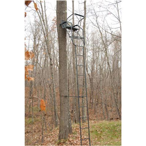Swivel Tree Stand - guide gear 174 17 deluxe 360 degree swivel seat ladder tree