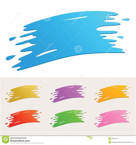 colorful paint splatter stock image image 35587121