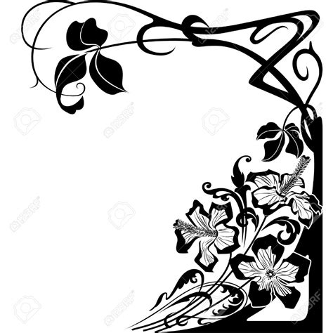 design art nouveau flowers and floral design in art nouveau style royalty