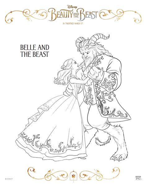 printable version of beauty and the beast 3 new beauty and the beast printable coloring sheets