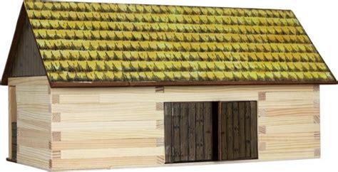 scheune neu bauen 91 9000 10 holzbaukasten scheune holzbausteine 148 teile