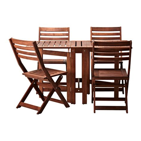 Outdoor Patio Table And Chairs 196 Pplar 214 Table And 4 Folding Chairs Outdoor Ikea