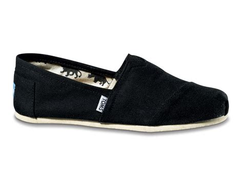 toms shoes black canvas s classics toms