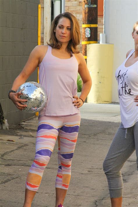 Ginger Zee In Tights At DWTS Studio In Hollywood GotCeleb
