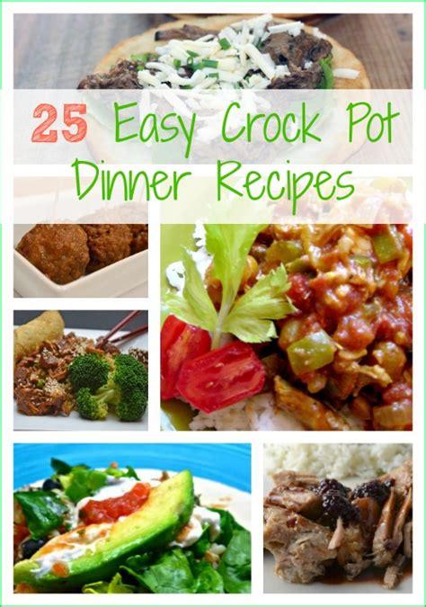 25 easy crock pot dinner recipes