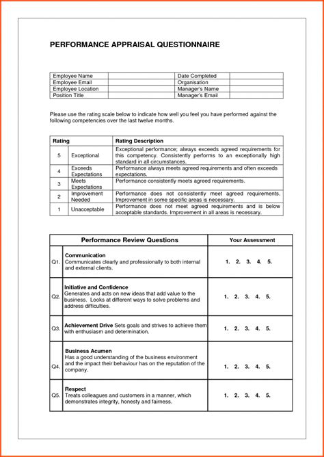 appraisal letter doc sle staff evaluation 2 performance