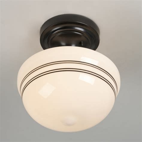 Black And White Ceiling Light Striped Schoolhouse Ceiling Light Shades Of Light