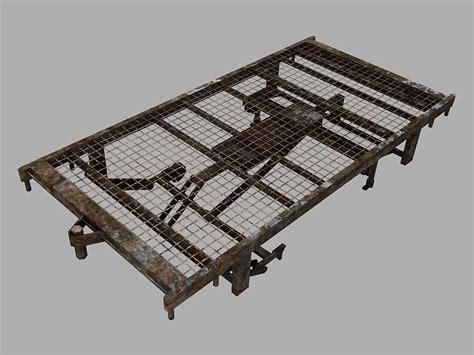 hospital bed frame 3d model hospital bed frame vr ar low poly obj ma