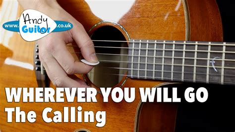 picking pattern wherever you will go wherever you will go fun picking song guitar tutorial