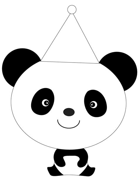 coloring page panda panda in hat coloring page h m coloring pages