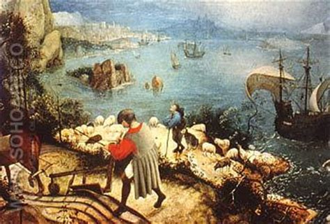 Landscape With The Fall Of Icarus Painting Bruegel Pieter Landscape With The Fall Of Icarus 1558