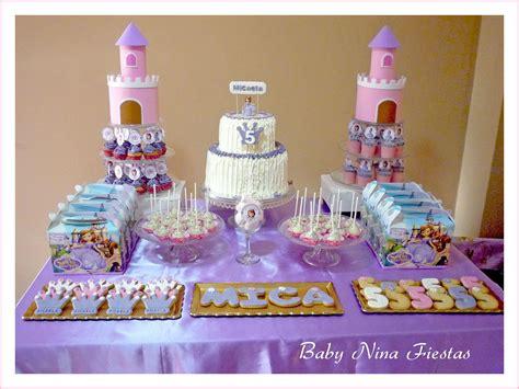 decoracion del bizcocho de sofia de first baby nina fiestas mesa dulce tem 225 tica princesa sof 237 a para