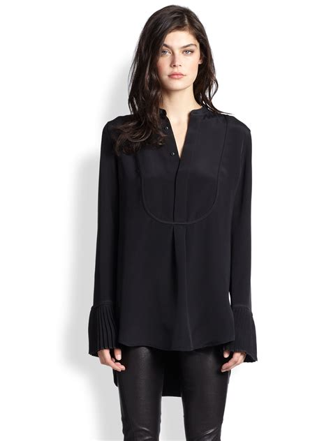 Polo Tunik polo ralph pleated detail tunic in black lyst