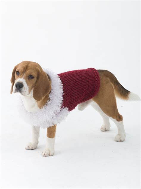 wool pattern for dog coat celebrator dog sweater in lion brand wool ease thick