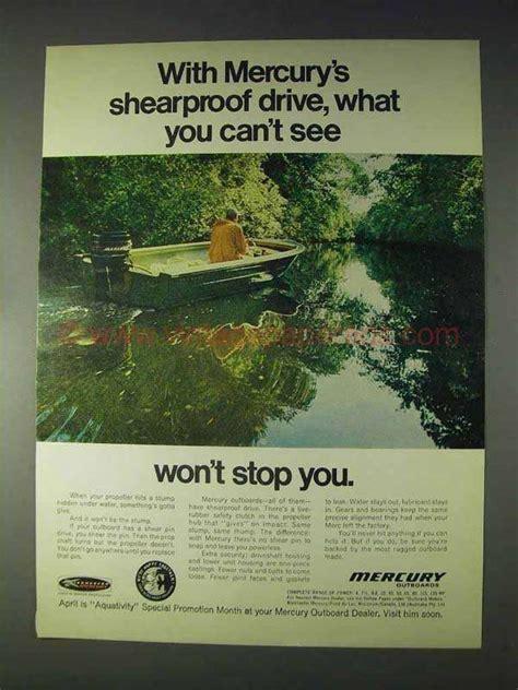 1970 mercury outboard motor 1970 mercury outboard motor ad shearproof drive