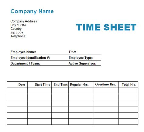 time card template sheets 11 time log templates pdf word sle templates
