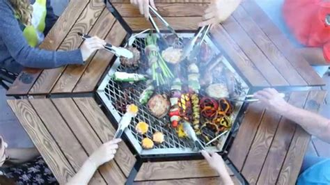 Patio Table With Built In Grill Pit Grill Table Pit Design Ideas