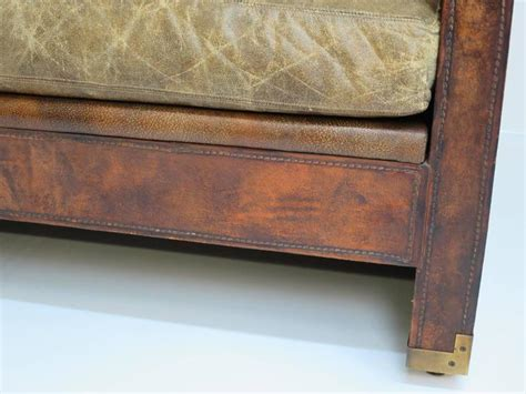 distressed leather couch for sale distressed and patinated leather smoking room sofa for
