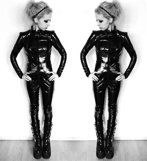 Rosa Pekkanen   By Me Pvc Catsuit, Demonia Boots, Ebay
