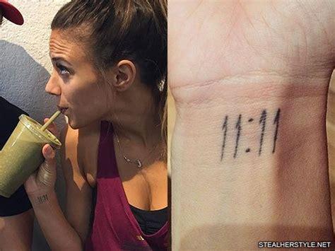 jana kramer tattoo kramer number style