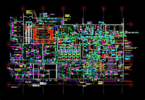 hvac layout part plan dwg block  autocad designs cad