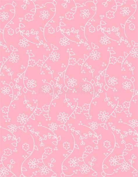 pattern pink soft pink spring flowers background pattern stock illustration