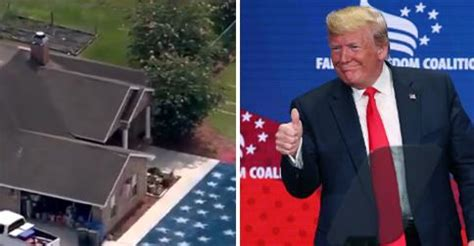 fla trump supporter paints yuge american flag  lawn