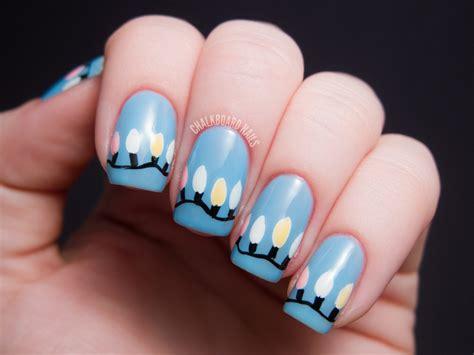 functional christmas light nails chalkboard nails nail