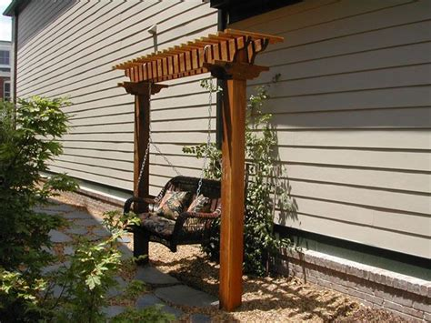 arbor trellis plans sweet little arbor swing ext 233 rieur pinterest