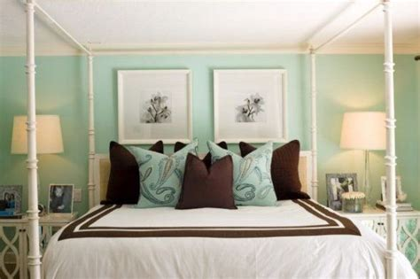 sea green bedroom never thought of a dark brown with sea glass green walls