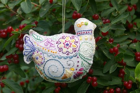 embroidered felt christmas ornaments stuff i wish i