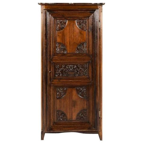 Small Armoire For Sale by Small Vintage Armoire With Carved Period Door For