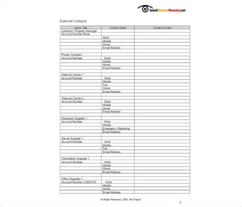 free disaster recovery plan template 7 disaster recovery plan templates free pdf doc formats