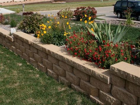 Nice Front Garden Wall Ideas Front Yard Retaining Wall Ideas For Garden Walls