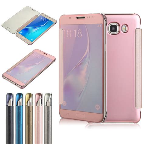 Samsung Clear View Window Flip Cover For Samsung A5 201 Murah for samsung galaxy j7 mirror clear view window smart