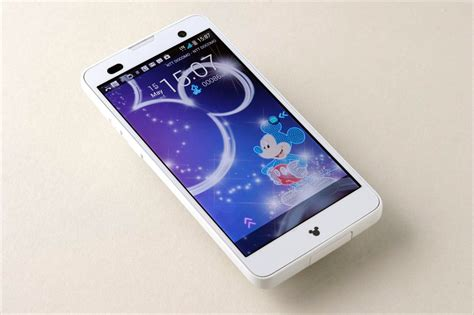 mobile f ドコモ disney mobile on docomo f 07e スマホレビュ ディズニーモバイル f