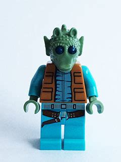 Lego Part Medium Azure Torso Simpsons Vest Flesh Top Pattern bricker lego minifigure sw553 greedo with belt