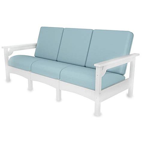 polywood sofa polywood 174 club 3 seat sofa www bedbathandbeyond com
